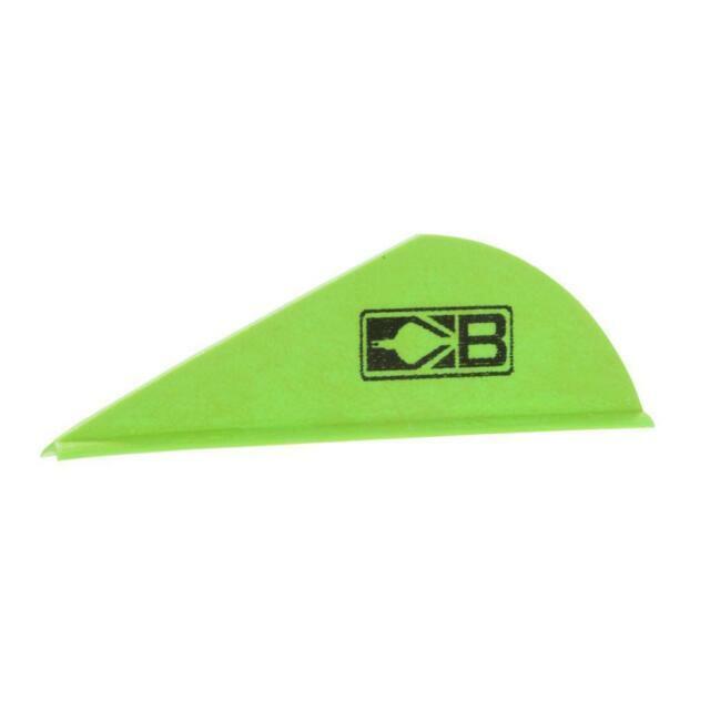 "Bohning 3/"" Parabolic /""X/"" Vane  Neon Green 100 Pack"