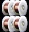 "ER70S-6 2 Lb x 0.023/"" 4 SPOOLS 0.6 mm MIG Mild /& Low Alloy Steel Wire"