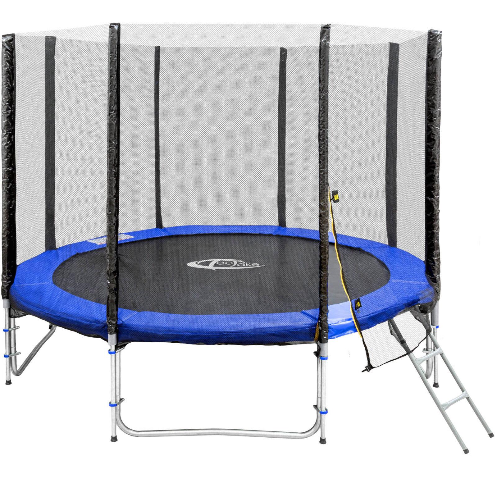 Trampolino elastico da giardino con rete di sicurezza scaletta Ø 305 cm TÜVGS n