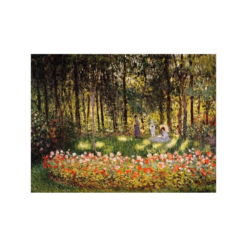 Quadro su Pannello in Legno Legno Legno MDF Claude Monet Wooded Scene dcd9d0