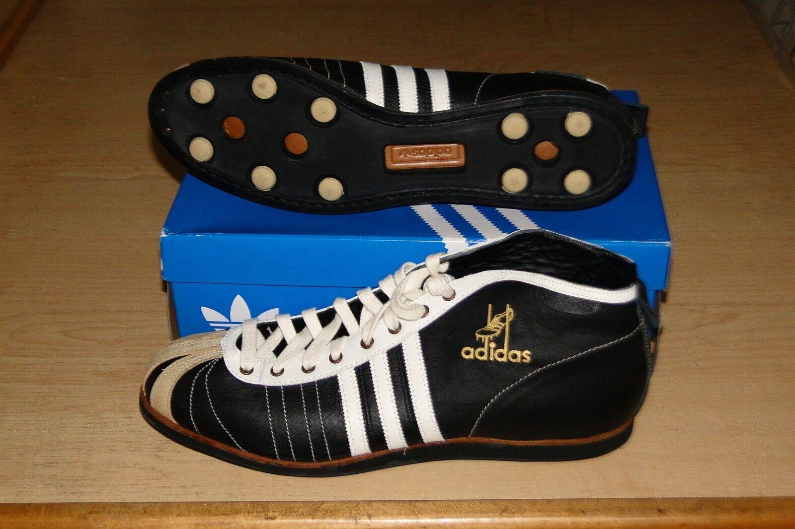 cuir noir et blanc blanc blanc rare adidas football soccer 54 superstar chaussure taille 14 | Belle Qualité  32d64c