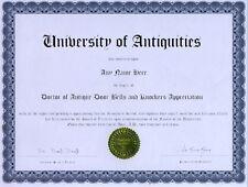 Doctor of Sheep Appreciation Novelty Diploma Gag Gift Joke