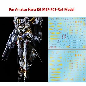 Para-Amatsu-Hana-RG-MBF-P01-Re3-Modelo-Kit-DIY-Water-Decal-Sticker-Set-Pegatinas