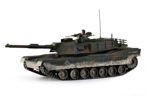 Large Scale RC M1A1 Abrams Tank Forest Camo Upgraded Premium Label Version Hob