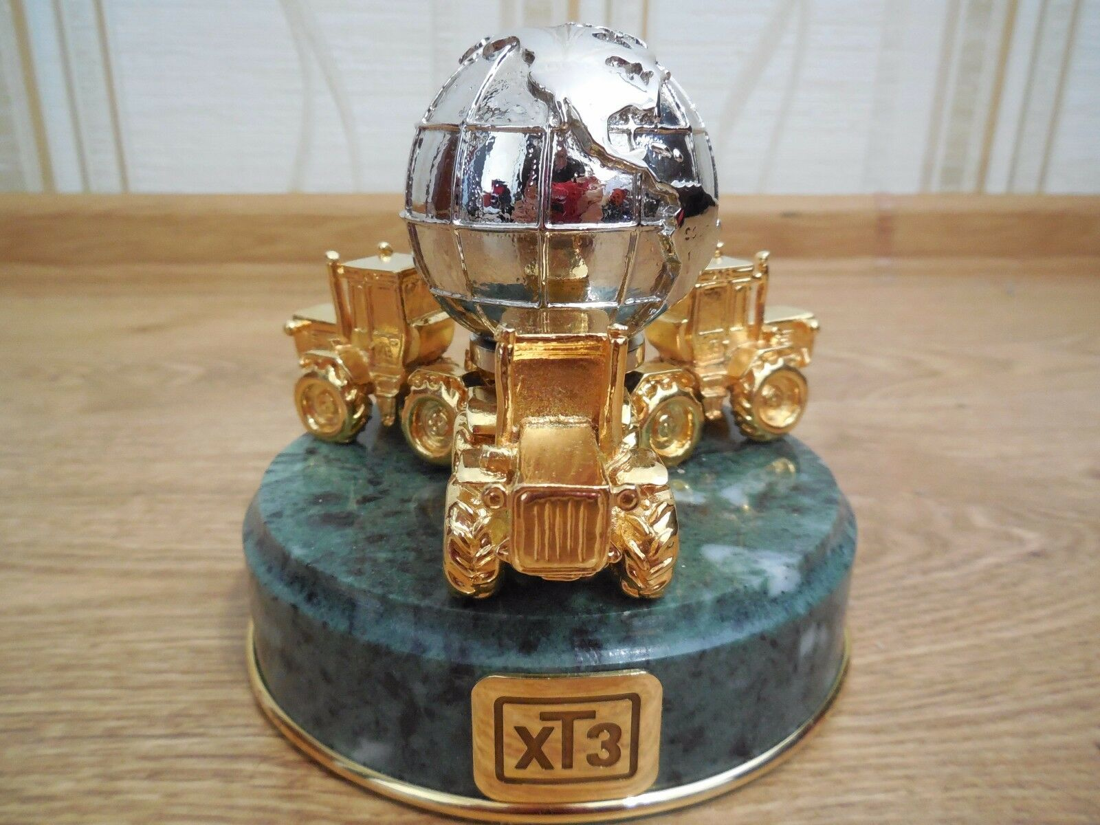 Collectible Collectible Collectible Metal Statuette Figurine of Kharkov Tractor Plant (KhTZ) 6401b3