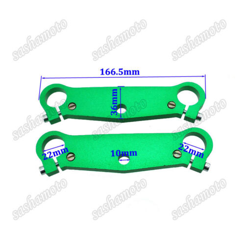 Details about  /Green Mini Pocket Bike Triple Tree Fork Plate Parts For 47cc 49cc MTA1 MTA2 Cags