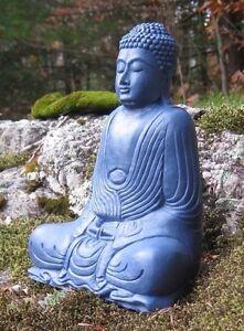 Buddha statue blue buddha figure garden decor concrete buddha cement buddhas - Cement cloth garden ornaments ...