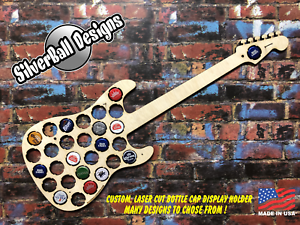 Guitar-Fender-Custom-Beer-Pop-Cap-Holder-Collection-Display-Art-Gift-Man-Cave