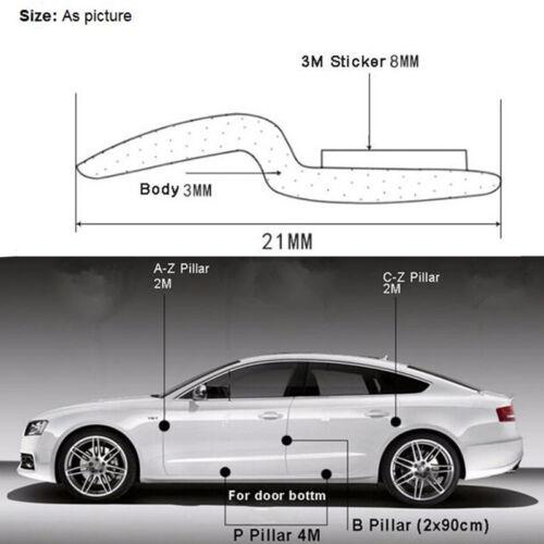 4M Z-Type Car Body Door Rubber Seal Hollow Strip Pad Black Weatherstrip Sealing