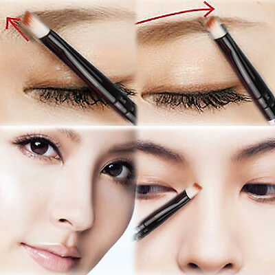 1pcs Good Quality Elite Angled Eyebrow Brush White Handle Eye Liner Brow Tool