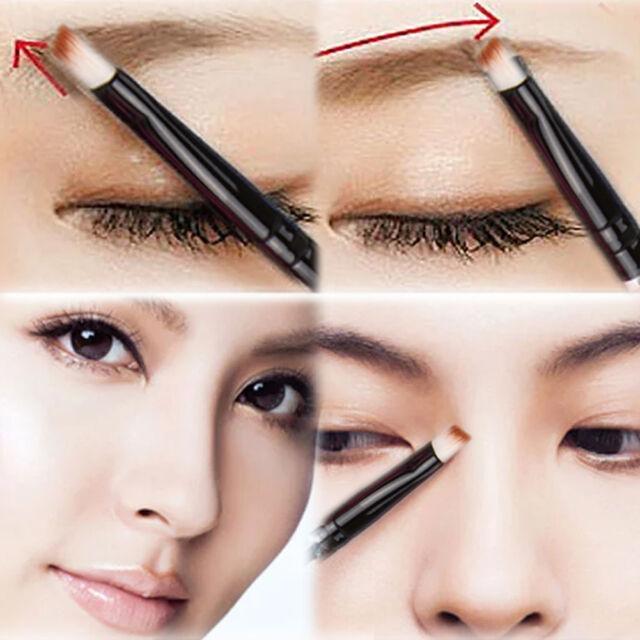 Hot Good Quality Angled Eyebrow Brush White Handle Eye Liner Brow Tool