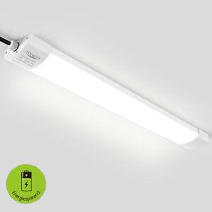 2 x LED 36W Wannen Feuchtraum Werkstatt-Lampen 4500K Garagen Decken-Leuchte IP65