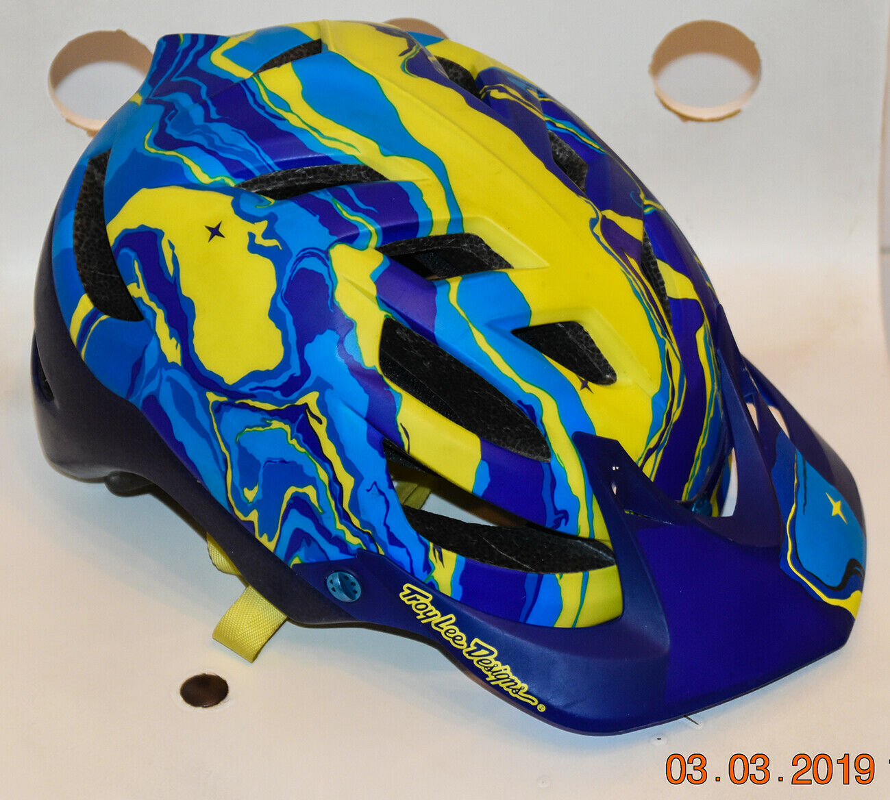 CASCO TROY LEE DESIGN A1 GALAXY blueE AM - taglia XS-S 54 56cm - INTROVABILE