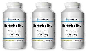Berberine-HCL-1000mg-High-Potency-1-3-BIG-Bottles-200-400-600-Capsules-USA-SHIP
