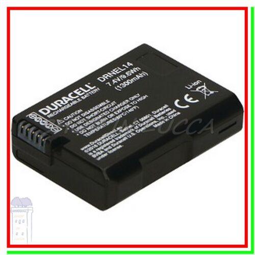 Batteria Ricaricabile DURACELL DRNEL14 = Nikon EN-EL14 x Coolpix P7800 D5500