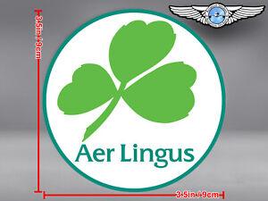 AER LINGUS LOGO ROUND DECAL / STICKER
