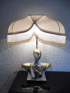 Sehr Schöne,große Lampe tischlampe.. __halbakt__signiert__75cm__designerlampe