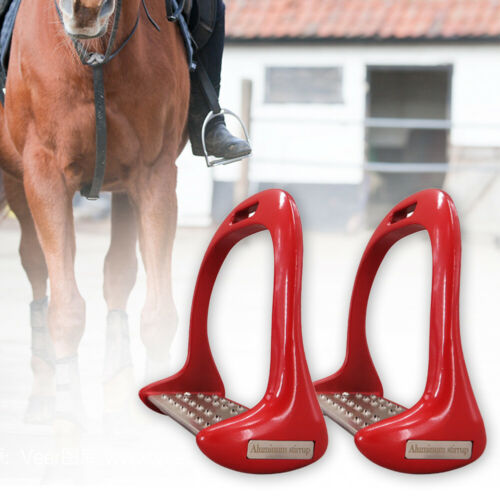 NEW Shires Stirrup Irons Lightweight /& Gripped Metal Cheese Grater Tread