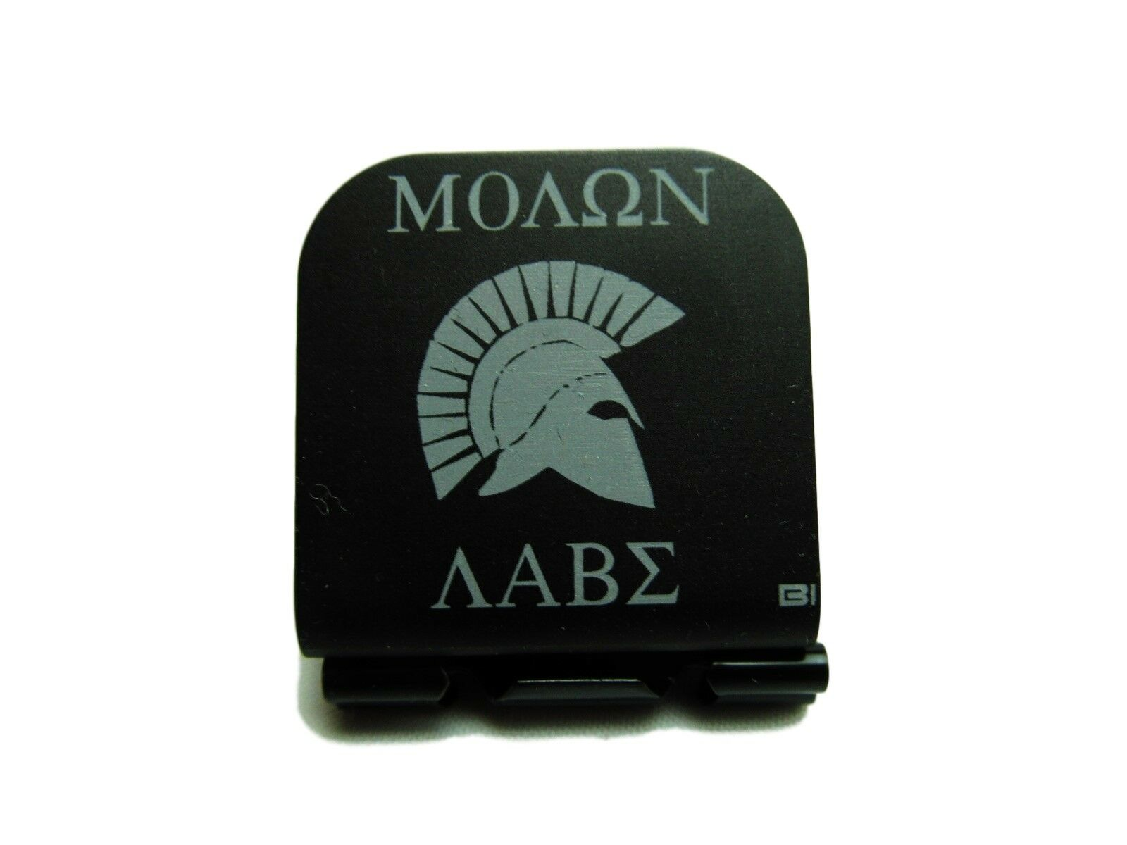 Molan Labe With With With Spartan Helmet Side Laser Etched Aluminum Hat Clip Brim-it 204d8c