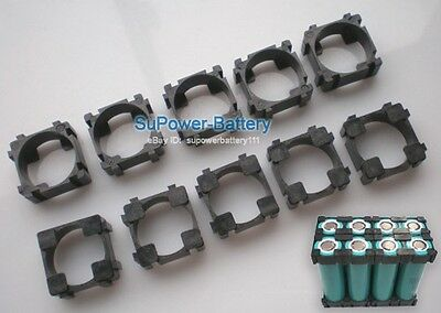 10pc Battery Spacer 1x 18650 Radiating Shell EV Battery Pack Plastic Heat Holder