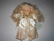 "NEW Bean Bag Collectibles Stuffed Curly Blonde Hair Angel Doll Toy/Decor ""Love"""