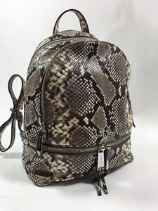 1f78ac4b04d8 ... australia image is loading michael kors rhea natural python snake small  backpack 1a0a9 f9f50