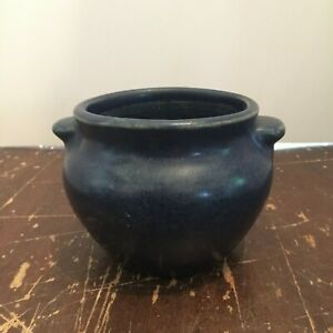 Vintage-Duchess-Cheese-New-York-Cobalt-Blue-Pottery-Crock