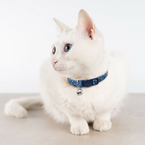 Breakaway Dog Cat Collar Adjustable Puppy Kitten Quick Release Collar with Bell