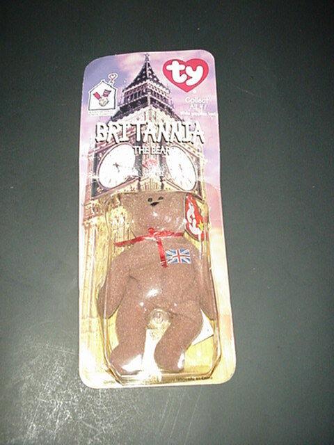 RARE ERRORS BRITANNIA THE BEAR NIB TY BEANIE BABIES RONALD MCDONALD