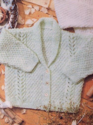 B30 Knitting Pattern For Babys Assorted Cardigans  12-24inch DK See Details