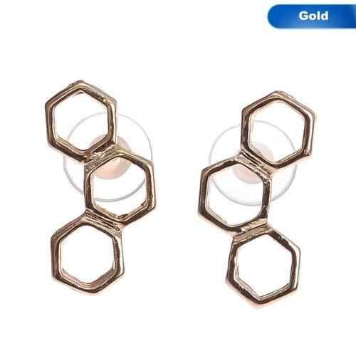 Einfach Süß Honeycomb Bienenkorb Ohrstecker Geometrischer Populär Heiß 1 Paar