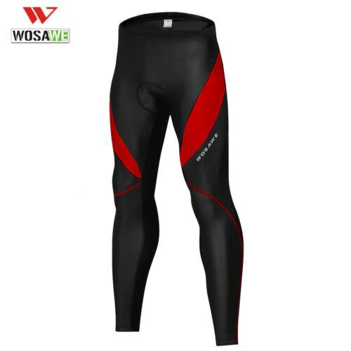 Mens Cycling Bib Tights+Knee Fleece 3D Cushion Bike Pants Reflective Sleeveless