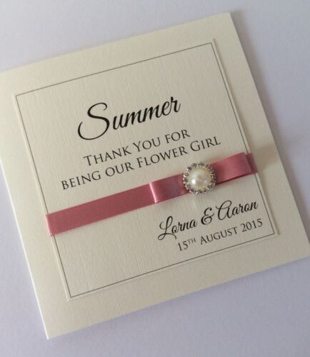 """demoiselle d/'honneur Vintage Pearl Fait main /""""Caitlyn/"""" fête de mariage vous remercier cartes"""