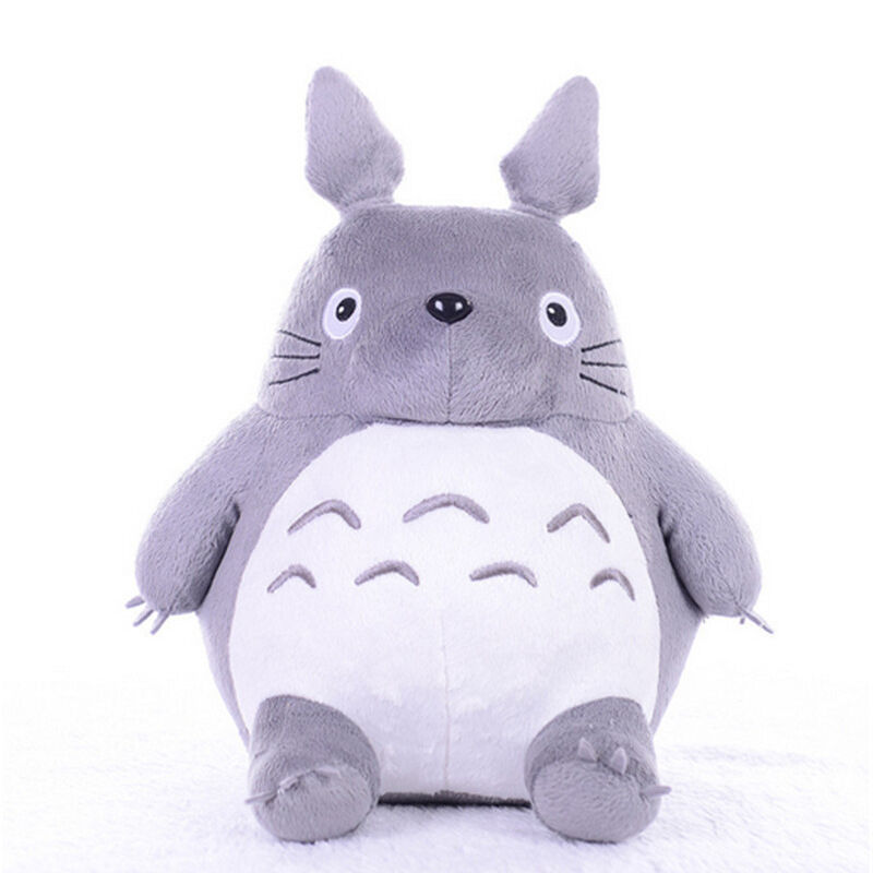 Totoro Plush Toy Hobbies Rare Cartoon Stuffed Cat Totoro Grau Anime Bolster New