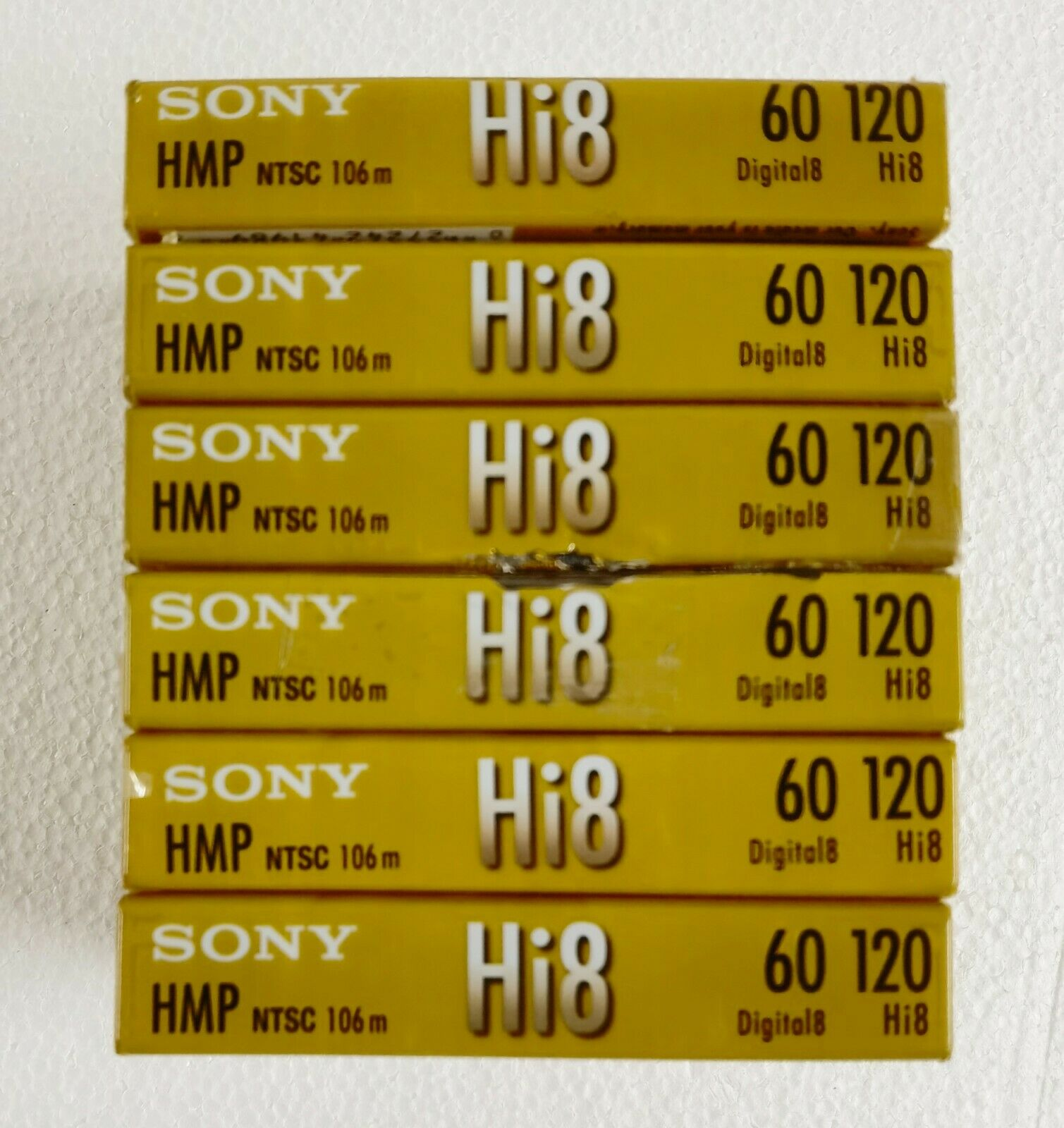 6 Sony Hi8 Camcorder 8mm Cassettes Tapes 120 Minute - - Please Read!