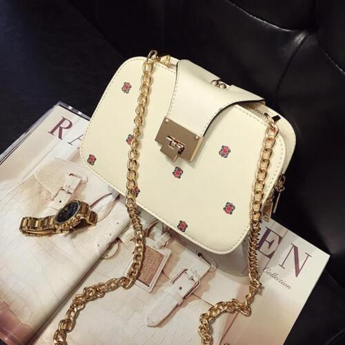 Women Lady Chain Handbag Small Square Messenger Crossbody Shoulder Bag S