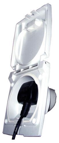 Bullfinch 6093 Caravan /& Motor Home 13A Electric Access Point White
