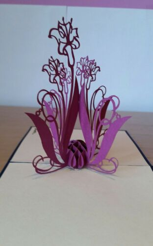 Mother/'s day, Thank you, Get Well, Birthday.... 3D Pop up Colourful Flowers.
