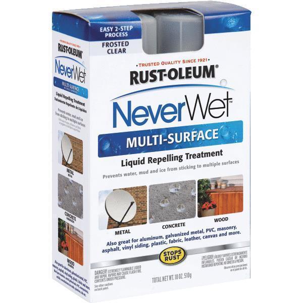 3 Frosted Clear 18 Oz RustOleum NeverWet Waterproofing Sealer Kit 274232