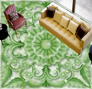 3D verde Flor Piso impresión de parojo de papel pintado mural 7333 5D AJ Wallpaper Reino Unido Limón