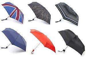 AnpassungsfäHig Fulton Compact Mini Flat Umbrella Various Colours High Quality