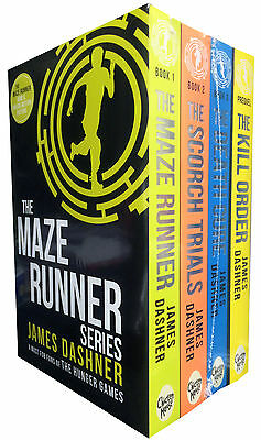 Maze Runner Serie 4 Bücher Set James Dashner The Death Cure Scorch Trials Neu