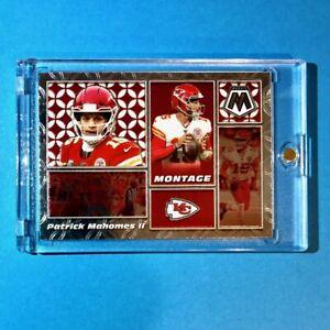 Patrick Mahomes MONTAGE SPECIAL INSERT PANINI MOSAIC CHIEFS FOOTBALL CARD Mint!