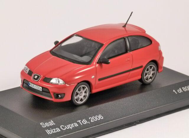 2006 SEAT IBIZA CUPRA TDI rouge échelle 1/43 Modèle par WHITEBOX