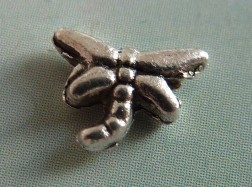 Libelle Metall Perle Spacer Zwischenperle 8 mm silber 20 Stück 2031