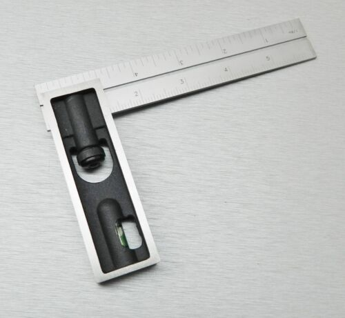 """6/"""" Double Square iGaging Precision 4R Steel Blade Engineer Carpenter with Bubble"""
