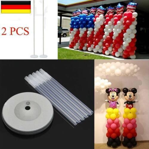 2X Ballon Spalte Basis Stand Set Rahmen Kit Geburtstag Hochzeit Party Dekor