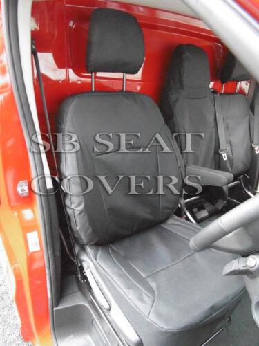 TO FIT A VAUXHALL VIVARO VAN SEAT COVERS 2016 BLACK WATERPROOF MADE TO MEASURE