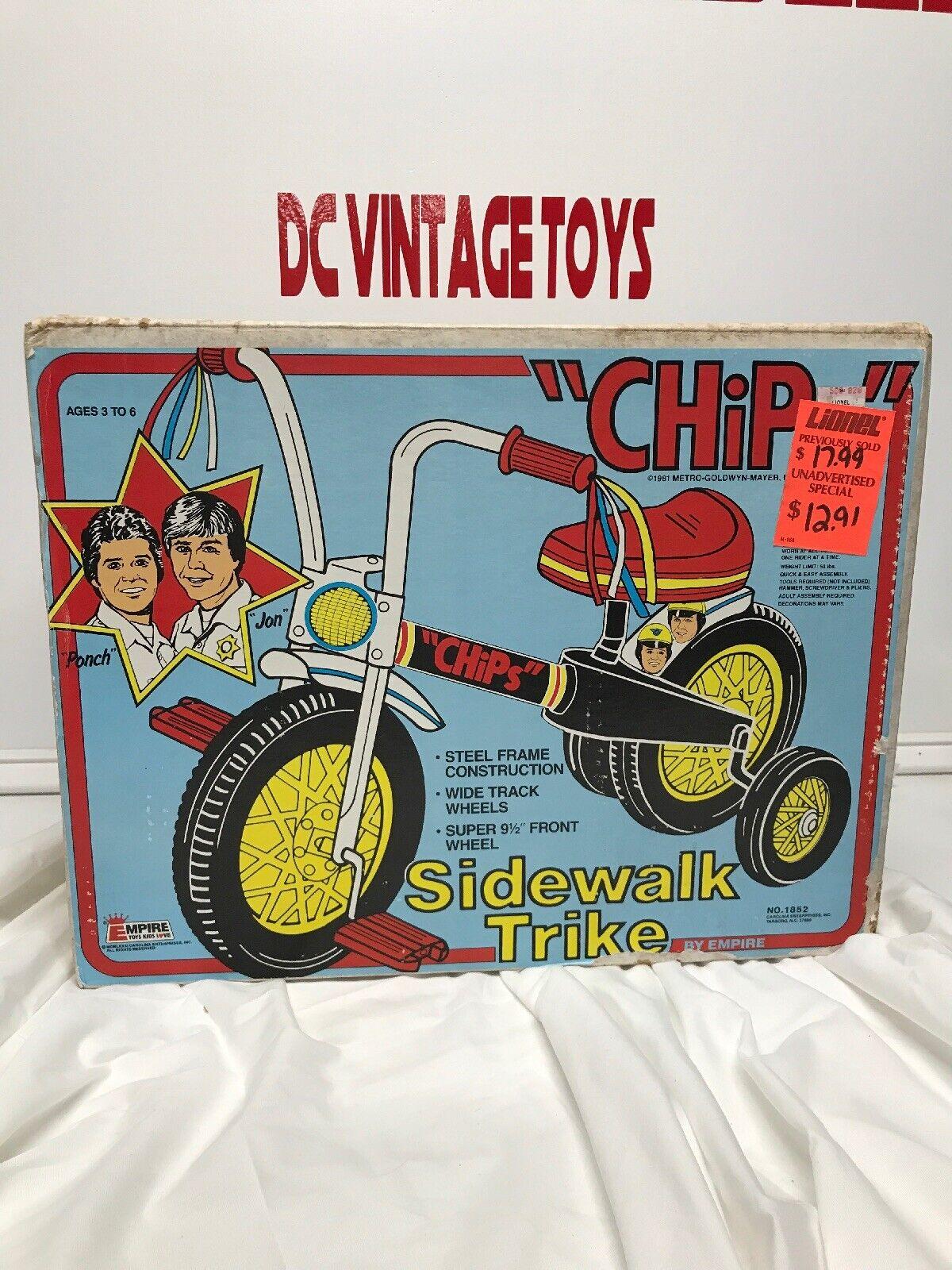 te hará satisfecho Vintage 1981 Imperio  fichas  TV TV TV Show lado caminar Trike Ponch & Jon Aspecto Muy Raro  diseño único