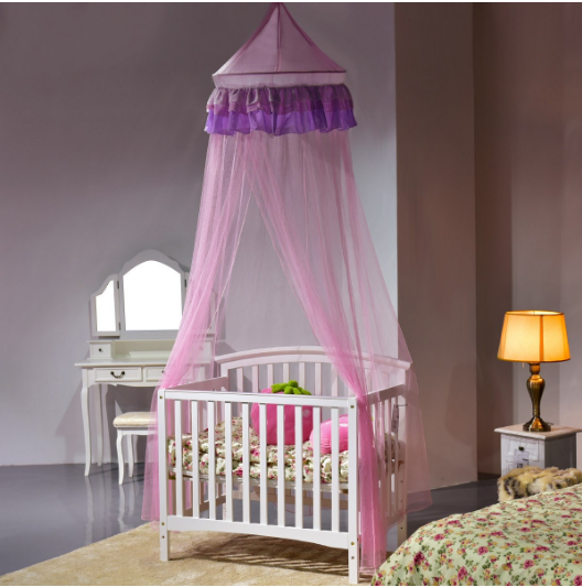 Elegant Lace Round Dome Princess Bed Mosquito Netting Mesh Bedding Net Canopy